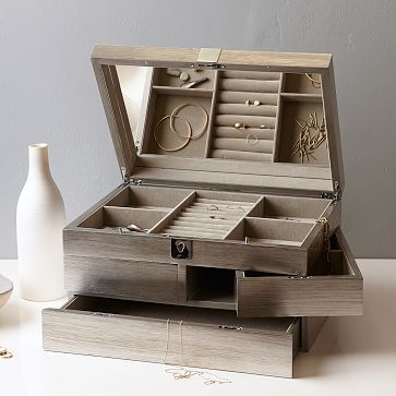West Elm Grand Lacquer Jewelry Box (the collection has long outgrown my little jewellery box)