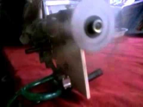 Motor de ar comprimido caseiro.