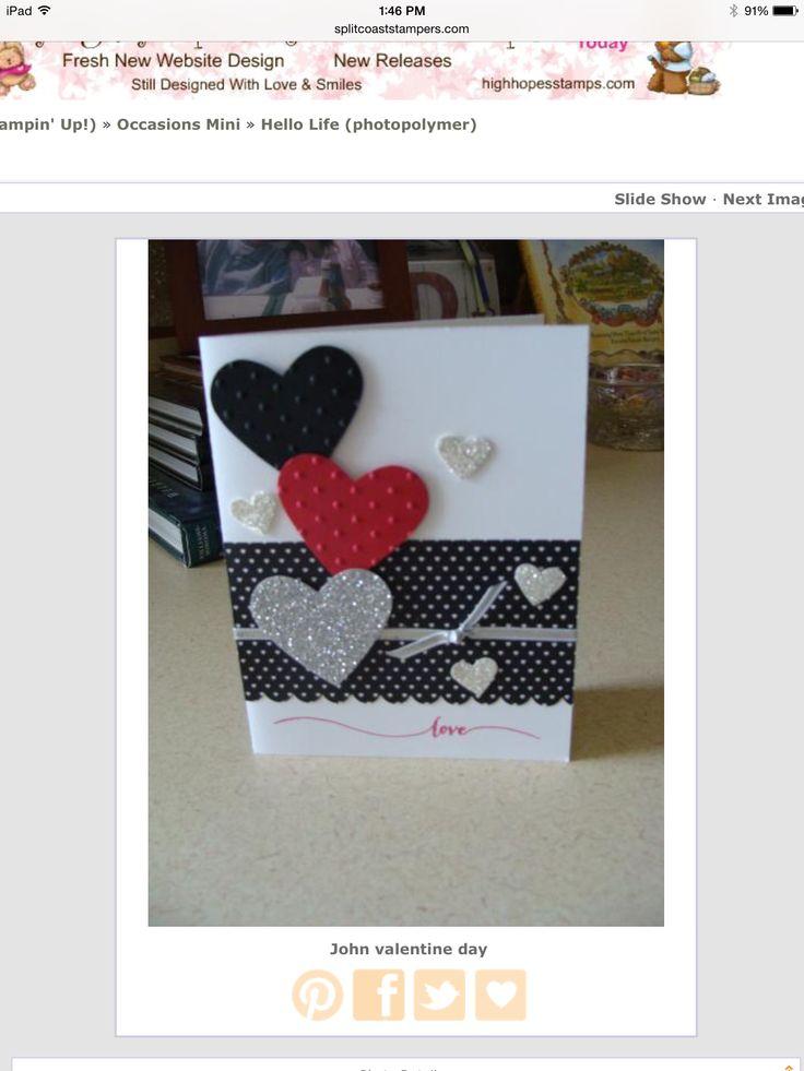 815 best Valentine Cards images on Pinterest  Cards Paper crafts