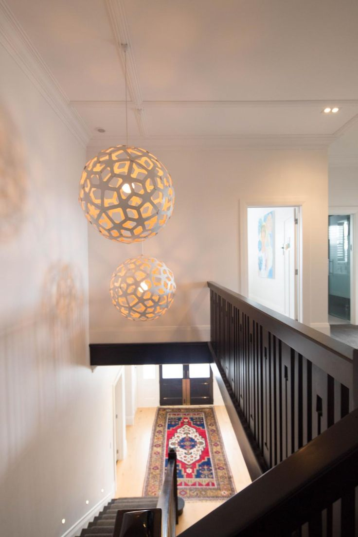 Best Double Large Lights Over Narrow Staircase And Bright 400 x 300
