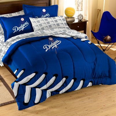 Los Angeles Dodgers Comforter Set With Shams Dodgers Mlb