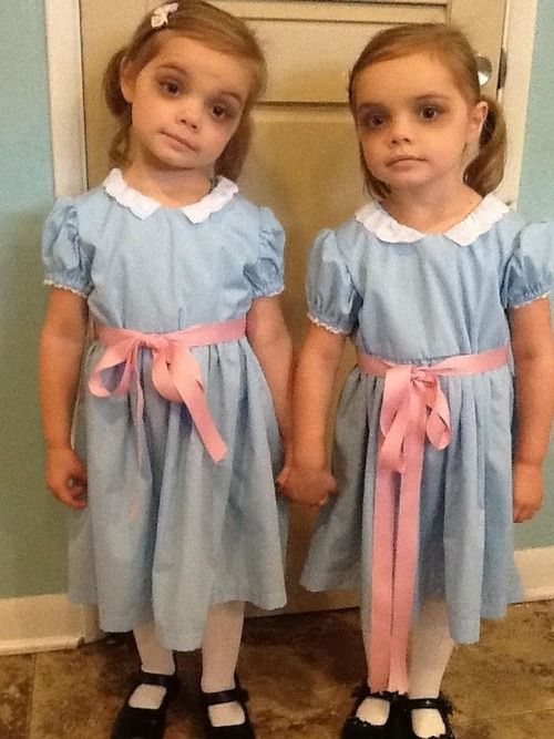 The Shining Twins...creepy  totally doing this if i have twin girls!