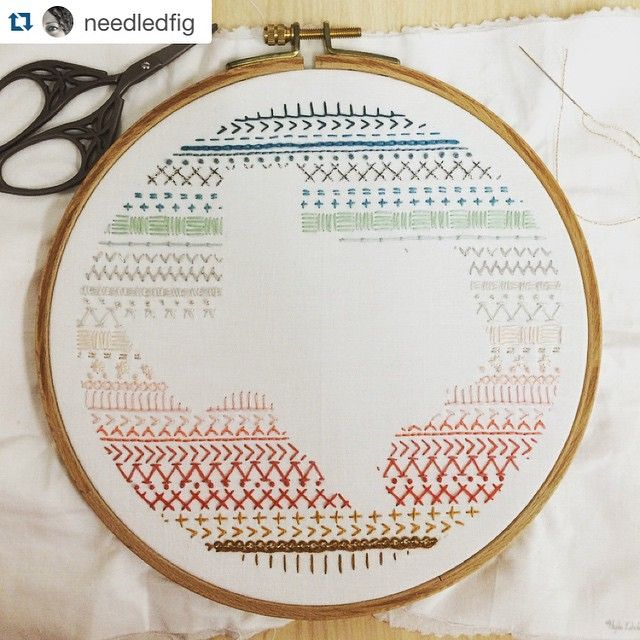 Embroidery sampler. Lovely way to frame a subject with practice lines.