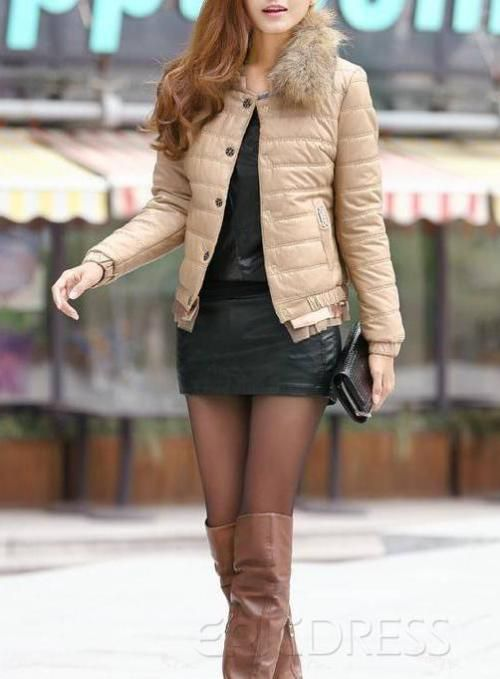 $ 24.29 Glamour Slim Pure Color Warm Overcoat