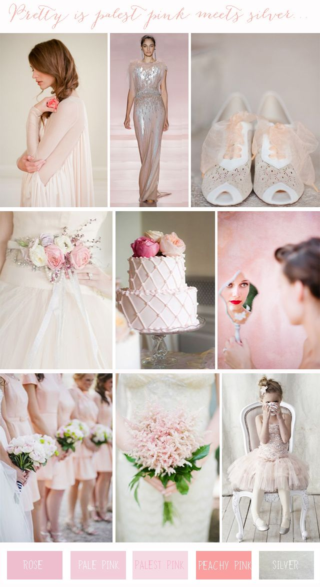 Chic Colour Combinations: Pale Pink + Silver | Wedding Inspiration - Want That Wedding - Want That Wedding