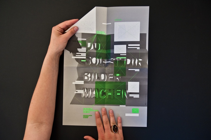 Konzept und Grafik Design, Infotag Flyer Fachklasse Grafik / BMS, Luzern, Flayer, Fleyer