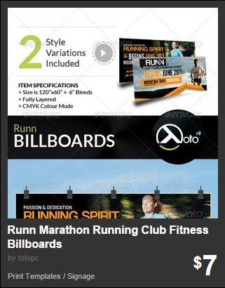 Runn Marathon Running Club Fitness Billboards
