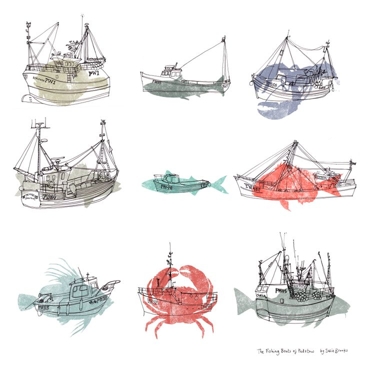 The Fishing Boats of Padstow (SB31F) Boats & Animal Print by Susie Brooks http://www.thewhistlefish.com/product/sb31f-fishing-boats-print-framed-art-print-by-susie-brooks
