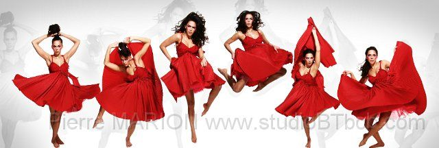 s ance photo studio shooting photo en mouvement avec robe rouge panoramique photo de mode. Black Bedroom Furniture Sets. Home Design Ideas