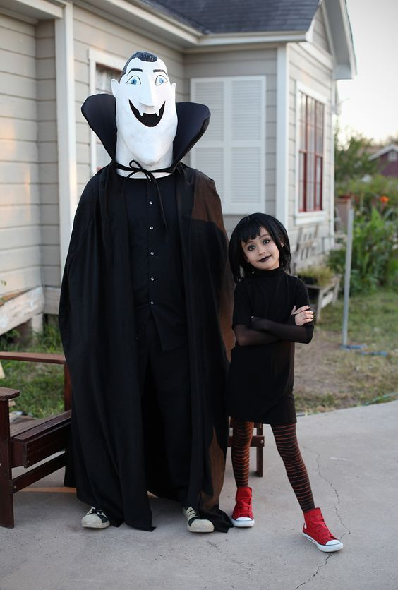 Hotel Transsilvanien Mavis & Dracula Kostüm selber machen | Kostüm Idee zu Karneval, Halloween & Fasching