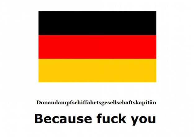 In German please!