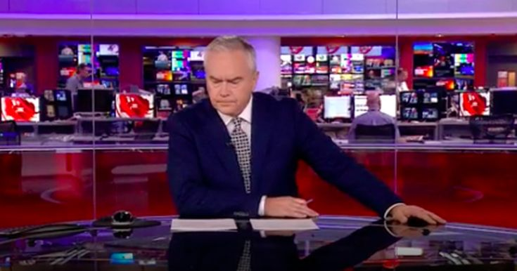 Watching this BBC news presenter sit in silence for 4 minutes is strangely mesmerising