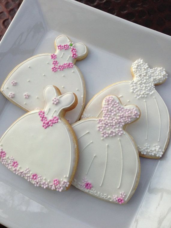 Wedding Dress cookie Favor