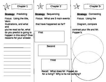 Mr. Popper's Penguins Daily Activity Sheet #1