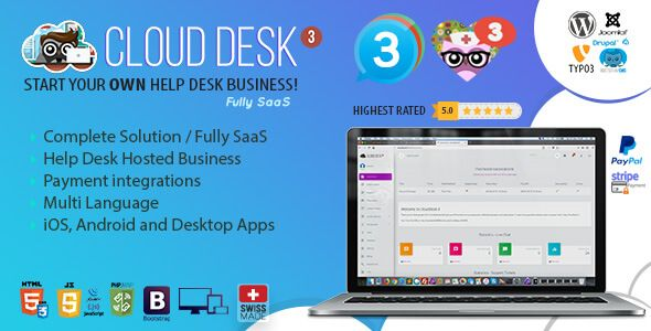 Nulled Cloud Desk 3 The Fully Saas Support Solution Free Download Download Nulled Nulled Cloud Desk 3 The Fully Saas Supp Saas Solutions Wordpress Plugins