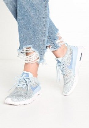 meet 4f29d 9e20c Nike Air Max Thea Ultra Flyknit Trainers Low Of Light Armory Blue Work Blue  White For Men Women