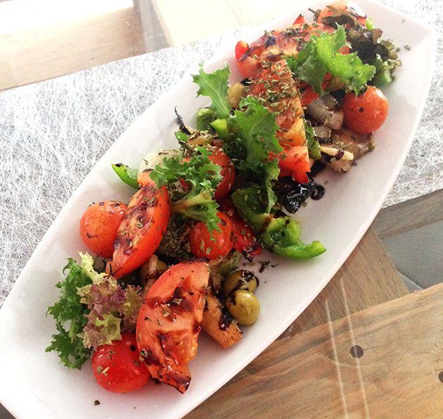 Parrillada de verduras de la palma con vinagreta bals mica for Parrillada verduras