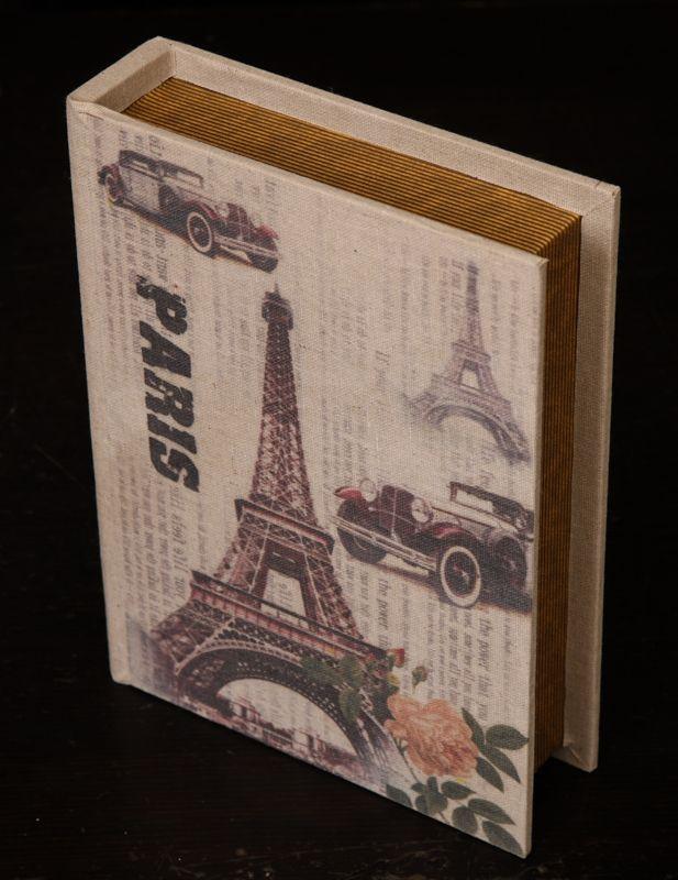 """Φέρτε το """"Paris"""" στη βιβλιοθήκη σας! Ξύλινο κουτί σε Vintage ύφος!"""