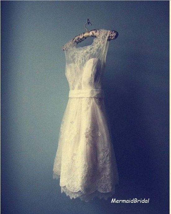 short wedding dress. mermaid bridal.  http://www.etsy.com/uk/shop/MermaidBridal