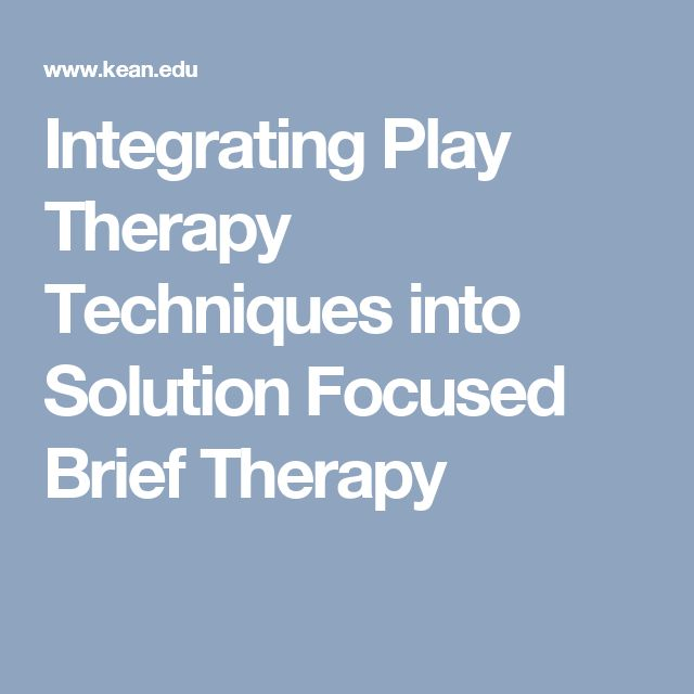 solution focused therapy for children Evidence-based information on solution focused brief therapy from hundreds of trustworthy sources for health and social care make better, quicker, evidence based.