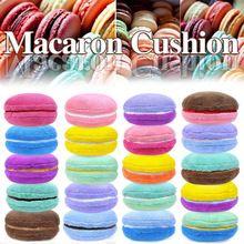rond kussen interieur decoratieve macaron heldere kleur roze blauw wit vacuümvuller gooien kussen mooie mode pluche kussens(China (Mainland))
