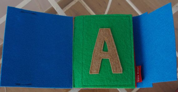 Children's learning 3D book AEIOU. Letters Colors and by TIFABags