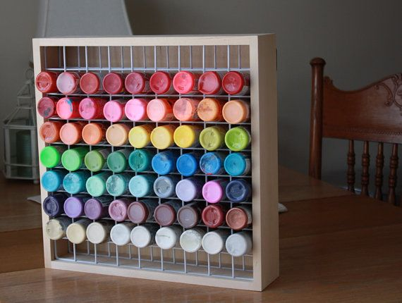 Craft Paint Storage Rack Holds 81 2 oz Bottles of by Hofcraft