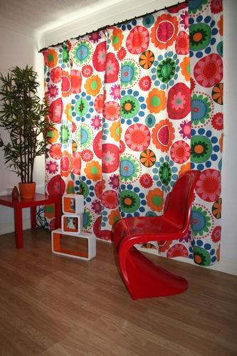 Ikea Fredrika Fabric Curtains Made To Measure Funky Retro
