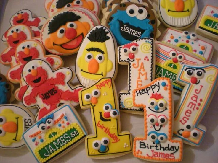 Sesame Street 1st birthday cookies