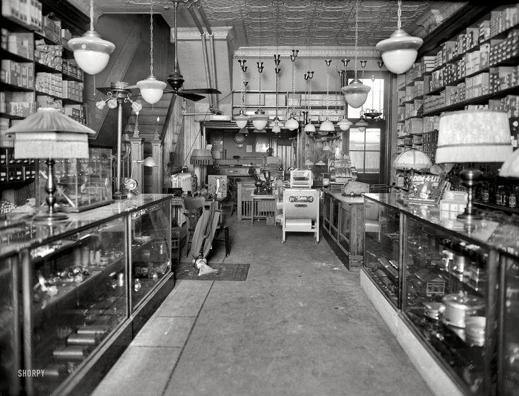 "Washington, D.C., circa 1923. ""Geo. W. Parezo electric shop, interior."" Shorpy Historical Photo Archive :: Parezo Electric: 1923"