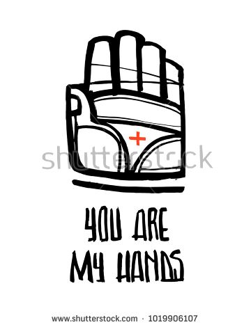 Hand Drawn Vector Ink Illustration Of Jesus Christ Hand Symbol And