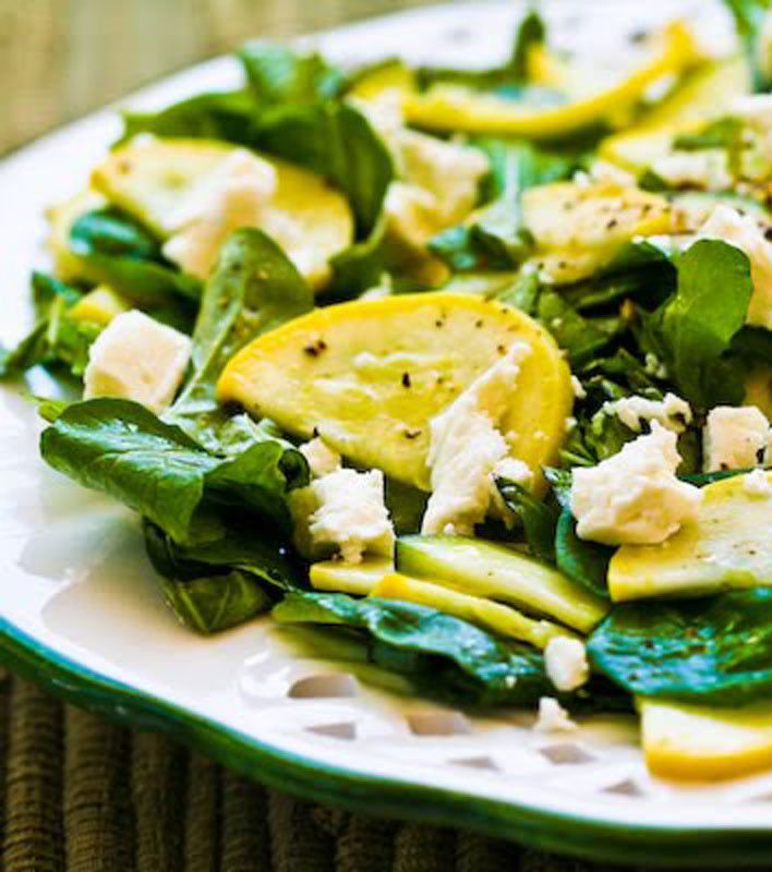 Raw Summer Squash Salad with Arugula, Feta, and Herbs ...
