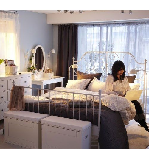 Bedroom No Bed Frame Bedroom Decor Simple Bay Window Curtain Ideas Bedroom Ocean Colors Bedroom: Leirvik Bed Frame Review - Google Search