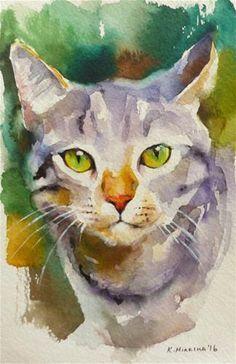 """Täglich + Paintworks + – + """"leilanisanctuary16"""" + – + Original + Fine + Art + zum + Verkauf + – + © + Katya + …   – Cats"""