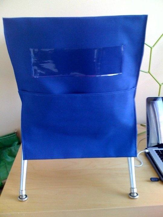kindergarten seat chair pockets handmade