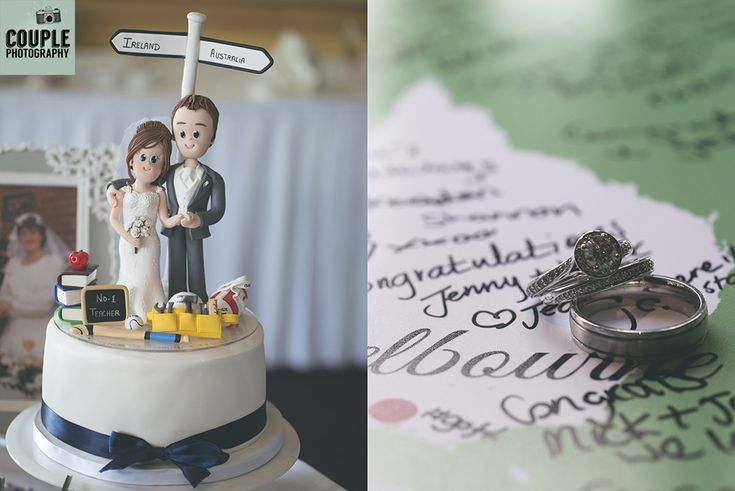 The amazing huge cake topper showing the bride & groom. Weddings at Mullingar Park Hotel by Couple Photography.