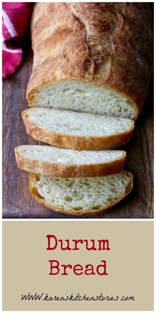 This Italian Style Durum Wheat Bread, with its gorgeous gold color, airy crumb, and chewy crust, might just be my new favorite bread.