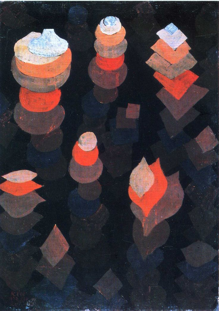 Paul Klee - Growth of the night plants, 1922, oil on cardboard