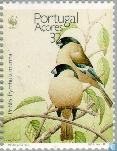 1990 Azores - WWF-Azores Bullfinch                                                                                                                                                      Más