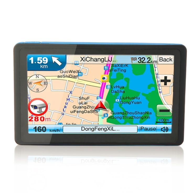 High Quality NEW Black TFT LCD Display New 7 Inch Car GPS Navigation SAT NAV 8GB Bluetooth Navigator with Sunshade