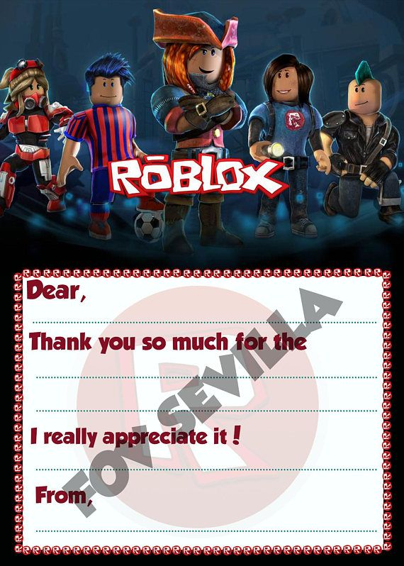 Robloxroblox Fill In The Blank Roblox Thank You Cardroblox