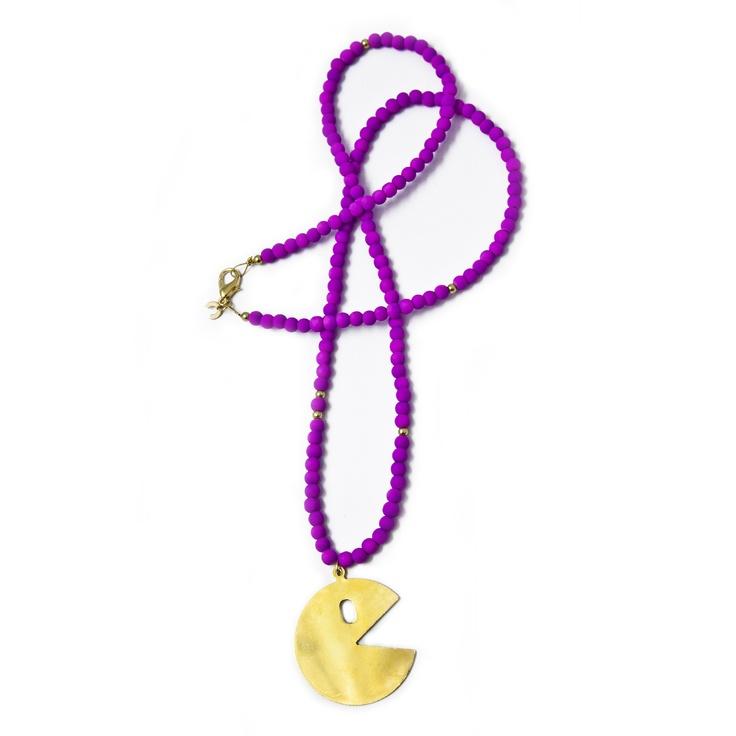 Purple PacMan Pendant