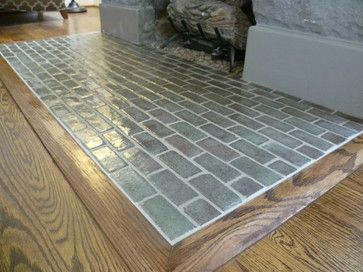 Handmade Tile Hearth - Traditional - Living Room - nashville - by Inspired Remodeling & Tile by Peter Bales