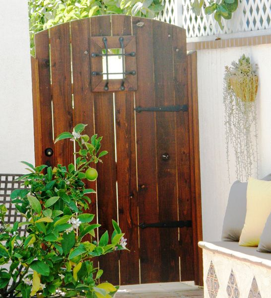 Spanish Style Wooden Gates Classic Construction Gates