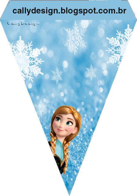 """Kit Digital Aniversário """"Frozen-Disney"""" Uma aventura Congelante - CALLY'S DESIGN-Kits Personalizados Gratuitos"""