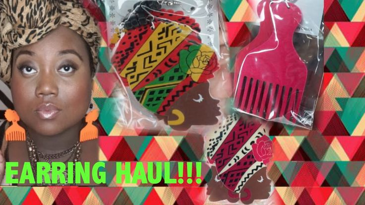 BOMBBB BEAUTY SUPPLY STORE  HAUL |  $2 ETHNIC AFROCENTRIC EARRINGS!!! #B...