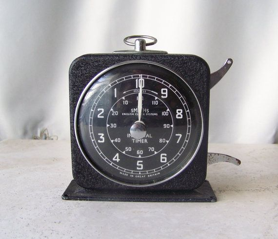Hey, I found this really awesome Etsy listing at https://www.etsy.com/listing/234468280/vintage-kitchen-timer-english-clock