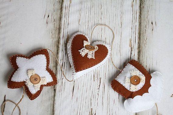 Handmade Christmas Decoration Felt Christmas door LinaArtStudio