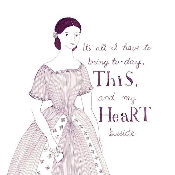 emily dickinson poetry | Emily Dickinson original fashion illustration by Yardia - poetry, ink ...