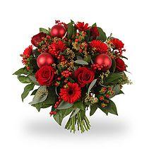 Kerstboeket Vrolijk Rood